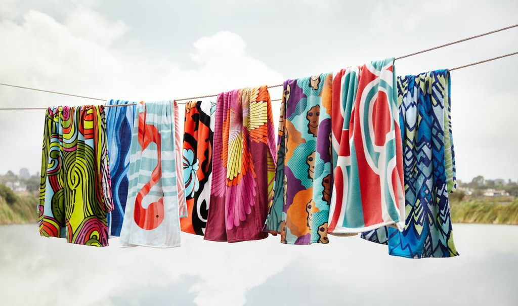 beachtowels hanging