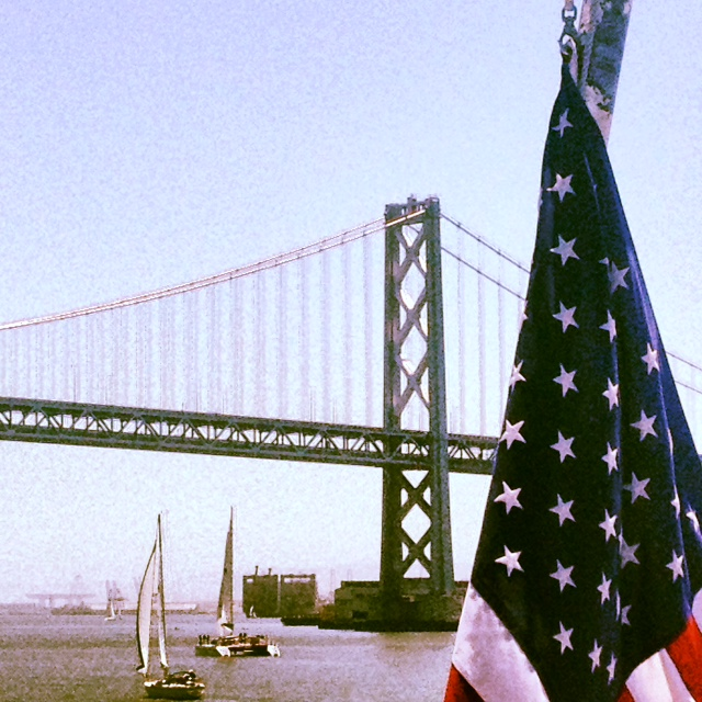 SF bridge flag