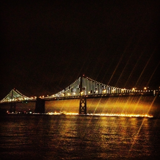 SF night bridge