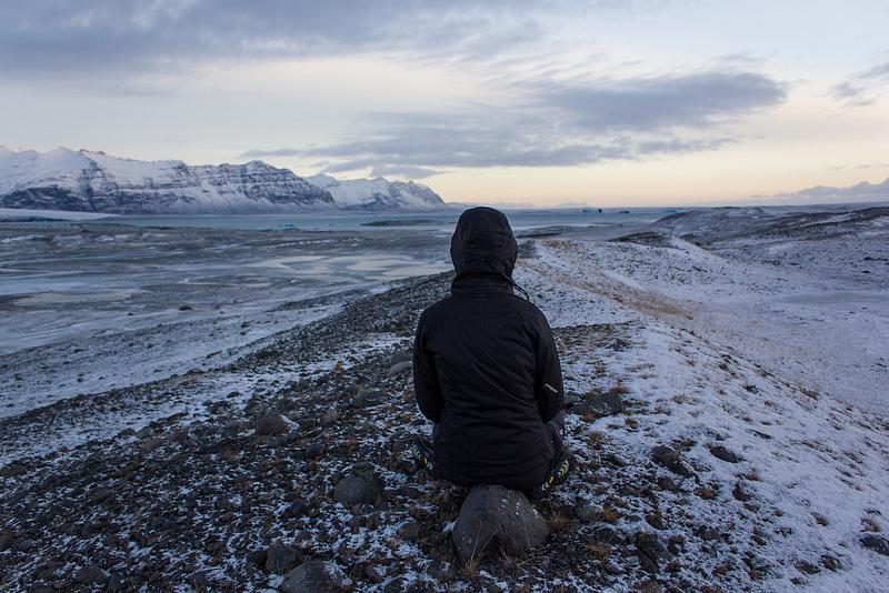 jenny on a glacier